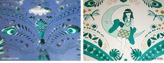 Luxury Wedding Invitations by Ceci New York. Blue Deco Bat Mitzvah #deco #blue #shade #illustration #gold #foil #letterpress #lasercut #pocket #sleeve #cecinewyork #invitation #batmitzvah #custom #design #newyorkcity