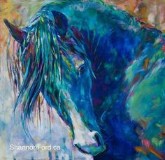 I love horses! the Beautiful CMK Arabian Stallion Aul Jesse James of Warren Park Stud by Shannon Ford equine art Horse Artwork, Cow Painting, Abstract Horse Painting, Blue Horse, Painted Pony, Horse Drawings, Animal Paintings, Pastel Paintings, Horse Paintings On Canvas