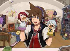 Sora | Kingdom Hearts. Hahaha, I can actually see Sora doing this XD