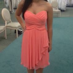 Davids Bridal Coral Reef F14847 Dress $110