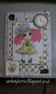 made as part of my DT work for Carley Duff - made using 'My Besties' digi and polymer stamps by 'Visible Image'