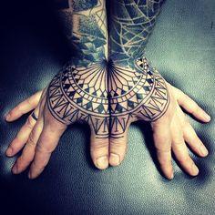 Geometric hands tattoo by alex_arnautov