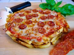 french fry pizza base