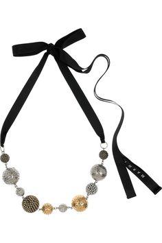 marni - bead and ribbon necklace