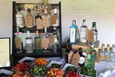 Lessons in styling a wedding gin bar.