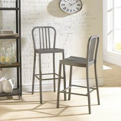 "Mercury Row Leo 24"" Bar Stool & Reviews 