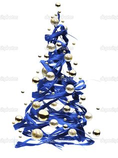 blue Christmas paintings - Google Search