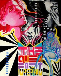 "Jola Michalak - cykl Life is Life - ""The Queen"" , akryl/płótno, 100x80cm, 2014r"