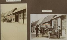 Whitwell Herts Garage Cars Roberts Post Office Village c 1914 photographs Royal Mail, Post Office, The Row, United Kingdom, Motorcycles, Photographs, Garage, Cars, Vintage