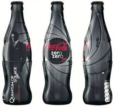 """famous limited edition 007 bottle in celebration of """"Quantum of Solace."""""""