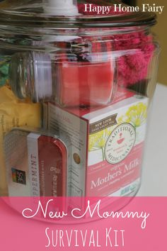 Mommy Survival Kit - such a cute and useful gift idea for a new mommy!