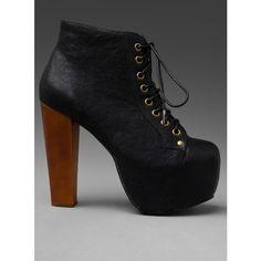 napatrzyłam się i teraz chcę... bosko...Jeffrey Campbell Lita Platform Lace Up Boot found on Polyvore