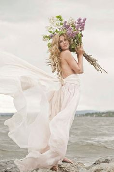 feminine and floaty wedding dress - ideal for a beach wedding