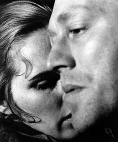 Liv Ullmann & Max von Sydow in Shame(Swedish: Skammen) , a 1968 black-and-white film written and directed by Ingmar Bergman