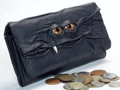 Hey, I found this really awesome Etsy listing at https://www.etsy.com/listing/181404369/wallet-black-leather-eye-zippered-pocket