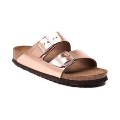Fashion and function come together to bring you the Arizona Soft Footbed Sandal from Birkenstock. The classic and comfortable Arizona Soft Footbed Sandal flaunts iconic, double straps, crafted with smooth leather uppers in a metallic colorway. The Soft Footbed design provides lightweight cushion with an extra layer of soft foam inserted between the cork midsole and suede liner for ultimate support and comfort. <b>Available for shipment in March; Pre-order yours today!</b…