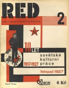 Book cover marking 10 years of the Russian Revolution of 1917, Czechoslovakia