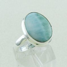 Designer High Quality Larimar Light Weight Ring_Hand Made 925 Sterling Siver #SilvexImagesIndiaPvtLtd #Memorial
