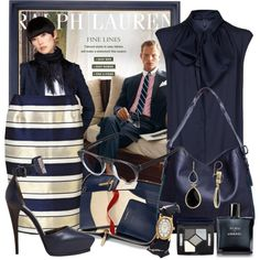 Work Style in Blues by gangdise on Polyvore
