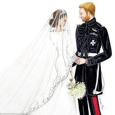 Talented Australian artist Alexandra Nea Graham has released a series of stunning hand-drawn sketches capturing newlywed couple Harry and Meghan, the Duke and Duchess of Sussex