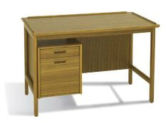 """2pc Rectangular Modern Wood Executive Office Desk Set, #JS-DAN-D3 by UTM. $1899.00. Cord Management - smart wired management. Function - sliding leather writing pad, conceal keyboard storage, self contained book storage. Detail - dovetail craftsmanship with hand rub oil finished. Wood - hand crafted with real solid wood framing with selected wood veneered. 45"""" x 27"""" x 29.5""""h, Weight (lbs) N/A, Material Solid wood framing and veneer, dovetail craftsmanship, hand-rubbed oil fini..."""