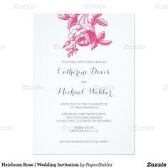 Heirloom Rose | Wedding Invitation