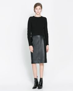 ZARA - WOMAN - SWEATER WITH FAUX LEATHER ELBOW PATCHES