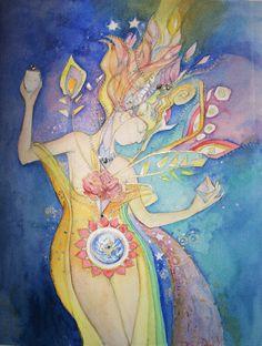 Gaia Rebirths Herself by Therese Desjardin
