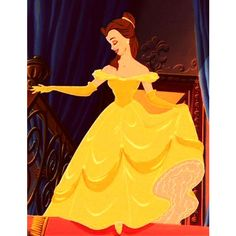 Snapshot Did Katie Holmes just borrow Disney princess Belle's canary... ❤ liked on Polyvore featuring disney, belle and yellow