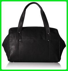 Piel Leather Wide Mouth Doctor Bag, Black, One Size - Shoulder bags (*Amazon Partner-Link)