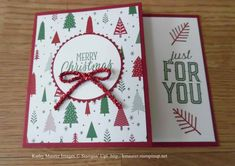 Christmas Gift Card Holder Card made with Stampin' Up!'s Merry Little Labels Stamp Set and Be Merry Designer Series Paper.  For details, go to my Wednesday, October 25, 2017 blog at http://www.stampinup.net/blog/2130686/entry/oct_25