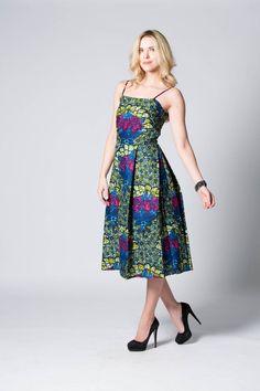 Robe chasuble robe à fleurs robe imprimée robe de par COLUFashion
