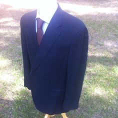 dd40a4b4d Solid Navy Blue LINEN BROOKS BROTHERS Blazer Size 46 Reg 2 button Awesome!  #BrooksBrothers