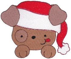 Pet Christmas 10 - 2 Sizes! | Tags | Machine Embroidery Designs | SWAKembroidery.com Bunnycup Embroidery