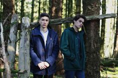 From Left to Right, Gustavo: Fred Perry Mountain Parka (Dark Carbon Blue), Carhartt WIP Eaton Pocket Sweatshirt (Grey/Camo) / Aaron: Lyle and Scott Microfleece Lined Jacket (Scotts Green), Farah Vintage Waldon T-Shirt