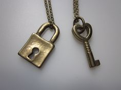 Lock and Key Necklace. His and Hers Necklaces. $9.99, via Etsy.