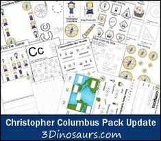 Free Update to Christopher Columbus Pack! A few more pages were added that are great for centers and older kids. These Christopher Columbus printables are to be used with children from 2 to They were made to go with Kindergarten Freebies, Classroom Freebies, Homeschool Kindergarten, Preschool Learning, Early Learning, Fun Learning, Teaching Kids, Learning Activities, Early Education