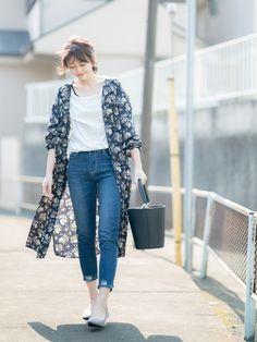 GU フラワープリントシャツワンピ ¥2490 size:XL ⭐︎LINEブログでレビューしてます