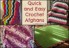 Crochet yourself some quick and easy crochet afghans that are nice and warm for the winter and even summer seasons.