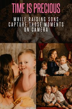 """One thing moms know, is that time is precious when you are raising sons. Moments fly by, so make sure you capture those memories on camera. Check out how Katy lights up during their """"mommy and me"""" photo session with her two handsome sons. Unique Family Photos, Cool Photos, My Photos, Boudoir Photos, Boudoir Photography, Family Photography, Family Photo Sessions, Mommy And Me, Raising"""
