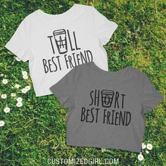 Tall Best Friend Latte from Customized Girl. Saved to Besties. #custom #croptop #bestfriends #bff #coffee.
