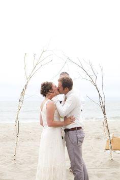Photography : B. Schwartz Photography | Photography : Sandals From Zara Read More on SMP: http://www.stylemepretty.com/2012/10/25/santa-cruz-beach-wedding-from-b-schwartz-photography/