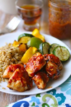 Spread on the sauce! Grilled Maple-Chipotle Chicken Kebabs