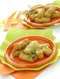 crocchette con patate e salmone al gusto di semi di papavero