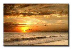 785397 / Cuadro Puesta de Sol en la playa