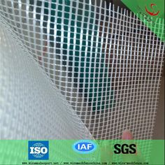 Plain weave fiberglass mesh cloth with heat insulations material