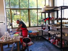 Simon Hulbert, UK working in The Pottery Workshop JDZ residency studio