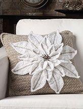 Plush Poinsettia Pillow