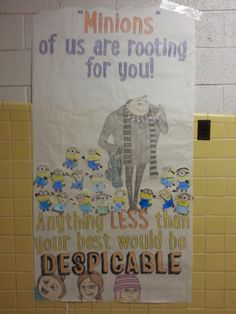 Despicable Me Poster for STAAR Test