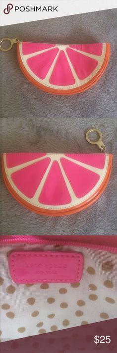 Kate Spade fruit slice wallet Adorable for the summer - cute wallet, fruit shape! kate spade Bags Wallets